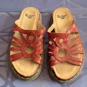 Vintage 90s Dr. Doc Martens Red Slide Sandals US 8 EU 39 UK 6